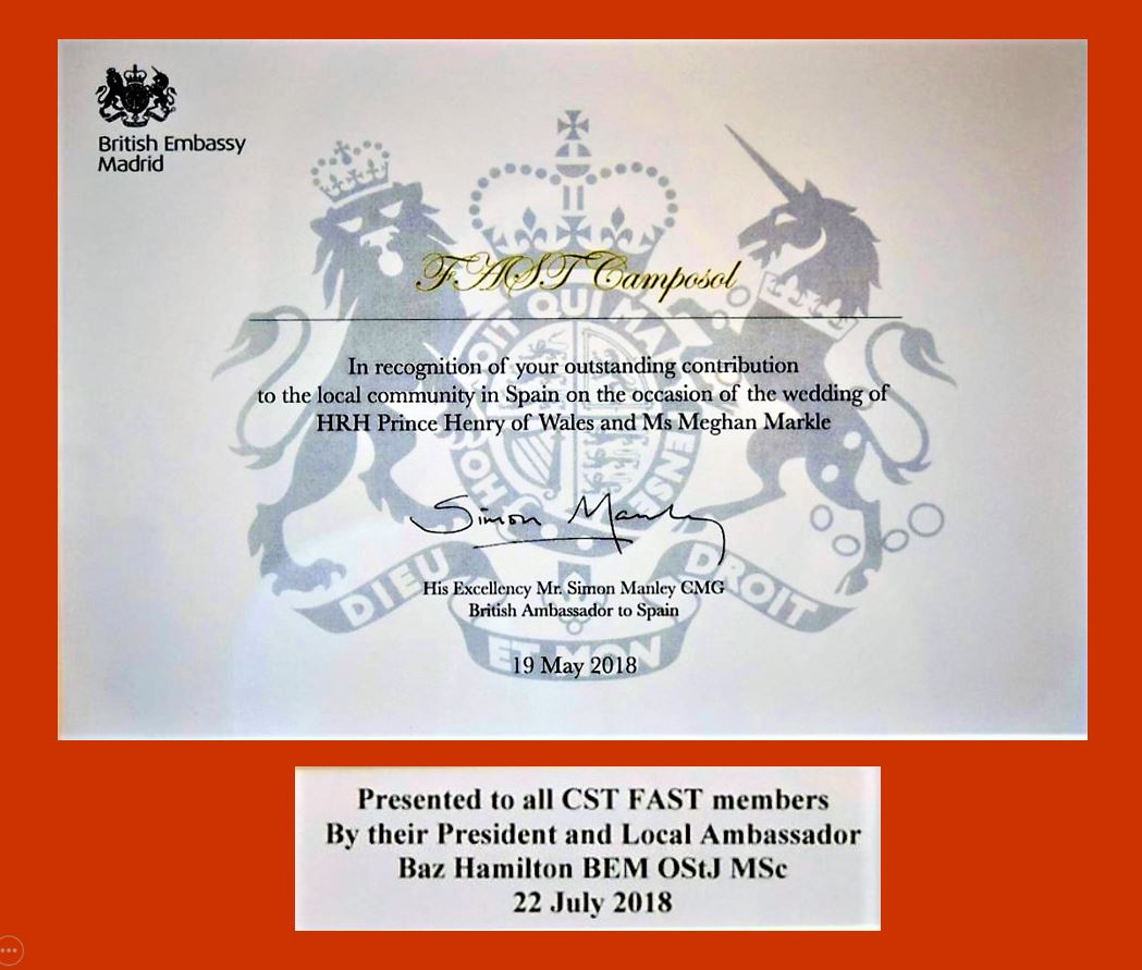British Embassy Certificate